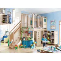 Natural Wooden Corner Role Play Loft for Daycare Preschool Toddlers