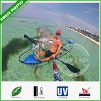 Double Seats Entertainment High Impact-Resistant Glass Lexan Transparent PC Kayaks