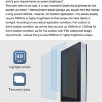 wall mount outdoor 70 inch digital signage Android LCD advertising player display thumbnail image