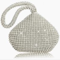 Excellent quality handmade crystal clutch stone evening bags and clutches wedding