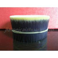 double colour synthetic fibre hair material