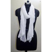Cotton Scarf Womens Fashion Plain Cotton Green Dupatta