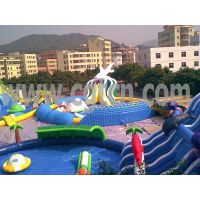 Giant Shark Inflatable Water Park with All Kinds of water games thumbnail image