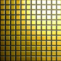 Gold and Silver Metallic ceramic mosaics