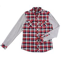 long sleeve flannel men's yarn dyed check shirts