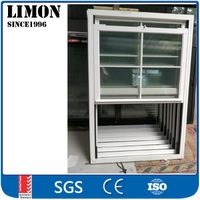 Easy to clean aluminium vertical sliding window with cheap price