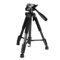 OEM customized logo Kingjoy newest cheap 4 section aluminum professional video camera phone tripod e