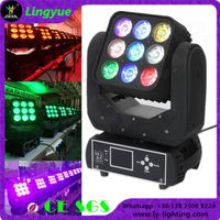 9x12W RGBW 4in1 moving head led matrix light