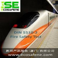 DIN 5510-2 fire test to railway components