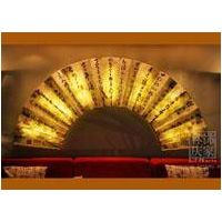 Chinese Classic Handwriting Folding Fan Hanging Modern Hanging Wall Decoration With LED Light thumbnail image