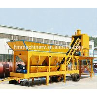 Factory price YHZS35 mobile mixing concrete plant