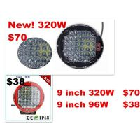 New 320w 9inch Black round cree led driving light ,led off road light led work light for SUV,ATV,UTV
