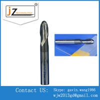 Stainless steel using CNC 2 fluteds ball nose Carbide end mills
