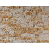 White and golden marble culture stone panel thumbnail image