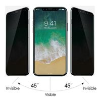 3D privacy anti-spy Tempered glass screen protector for iPhone XS/XR/XS Max