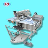 automatic pocket patch attachment sewing machine for jeans blouse t-shirt