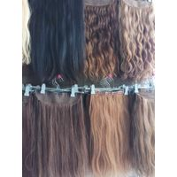 human hair clips extensions