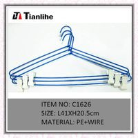 pant hanger, plastic coating wire clothes hangers