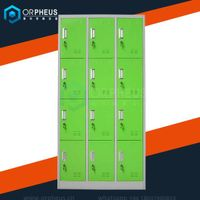 Made in China 4 tiers cheap wardrobe closet clothes cabinet 12 door gym locker for ikea furniture