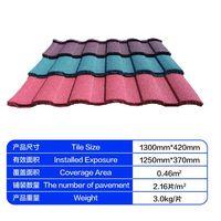 stone coated rainbow metal roof tile