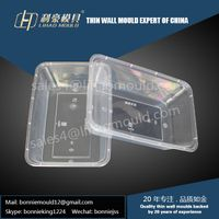plastic thin wall lunch box mould supplier
