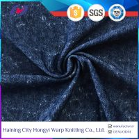 Denim Pattern Moisture Wicking Elastic Spandex Nylon Fabric Wholesale