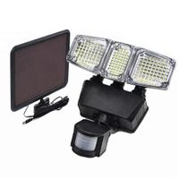 Solar Powered Motion Light Triple Head 182 LED with 900 Lumens Output 180 Degrees Waterproof Outdoor thumbnail image