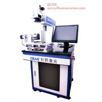Intergrated rotating fiber laser marking machine 20W CE certifiedserving 100000hrs cheap price