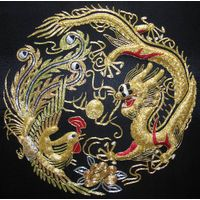 Chinese handmade silk embroidery art painting wall decor