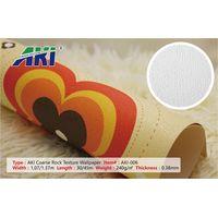 High Quality Wholesale Vinly Blank White Printable Wall Paper AKI 006 Coarse Rock Texture Wallpaper