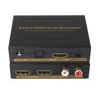 EDID setting HDMI splitter 1x2 audio extractor