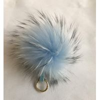 Raccoon Fur Pom Pom for decoration
