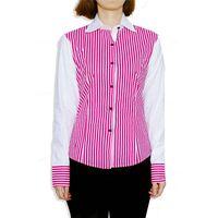 Vertical stripes color matching poplin long sleeve shirts