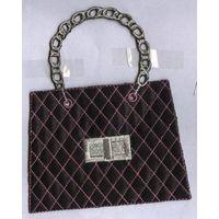 Embroidered badge patch - handbag