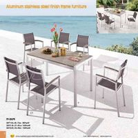 Alum stainless steel table & Textilene Chair for Outdoor and Garden (RY-2007S)