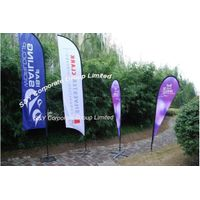 Custom outdoor polyester feather banner flag displays