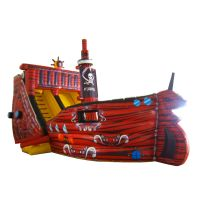 Pirate theme inflatable bouncers with slide for sale inflatable bounce house