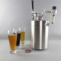 homebrew kitchen polished draft mini beer keg taps