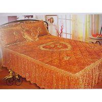 4pc Velvet Embroidery Bedspread