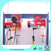 New PA mini running type electric wire rope hoist.