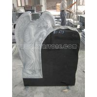 KYRSTONE European American Styles Shanxi Black tombstones Absolute Black Granite Angel Sculputures