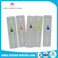 Disposable Medical I.V. Cannula with Wings& Injection Port I.V Catheter Intravenous Catheter of High