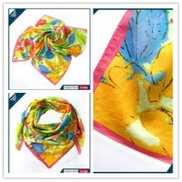 Colorful viscose square scarf * HEFT scarves and shawls thumbnail image