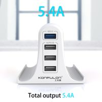 Konfulon Multi-Port USB Charger, Quick 3.0 Wall Charger Adapter with EU/US/UK Pin, CE Certified Phon thumbnail image