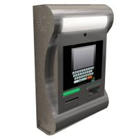 SJ11 wall mount stainless steel kiosk with NFC reader, thermal printer and 2D barcode reader thumbnail image