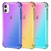Gradually changing color drop protection TPU case for iPhone 11 ( iPhone pro, iPhone pro Max )