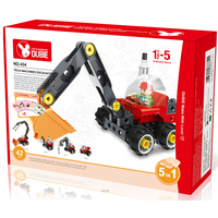 excavator 5 in 1 tech machine set brick competible with duplo