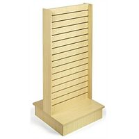"54"" Slatwall Kiosk, 2-Sided - Maple"