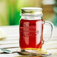 embossed logo ice cold drinking mason jars 480ml thumbnail image