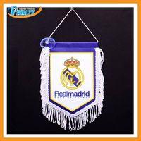 Real Madrid Team logo printing flags